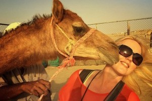 kissed by a camel